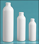 White HDPE Cosmo Round Bottles (Bulk), Caps NOT Included