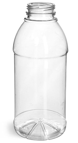 Plastic Bottles, Clear PET Beverage Bottles