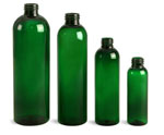 4 oz Green PET Cosmo Round Bottles