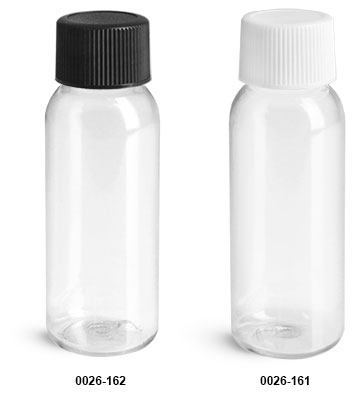 Sks Bottle Packaging Plastic Bottles 1 Oz Clear Pet Cosmo Round