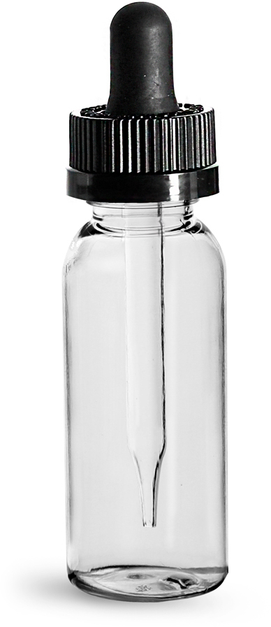 Black CR Bulb Glass Droppers