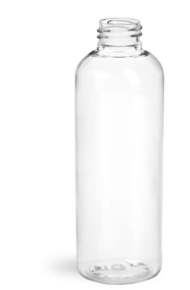 Clear PET Cosmo Round Bottles (Bulk), Caps NOT Included