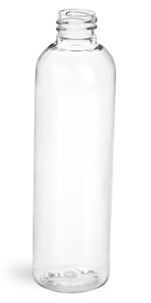 4 oz Clear PET Cosmo Round Bottles (Bulk), Caps NOT Included