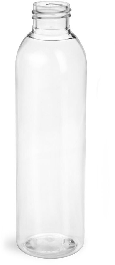 Clear PET Cosmo Round Bottles (Bulk)