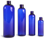 4 oz Blue PET Cosmo Round Bottles