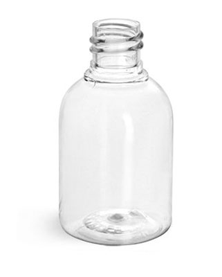 Clear PET Modern Round Amenity Bottles (Bulk)