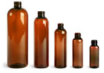 1 oz Amber PET Cosmo Round Bottles