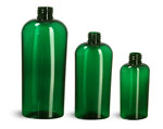 8 oz Green PET Cosmo Oval Bottles