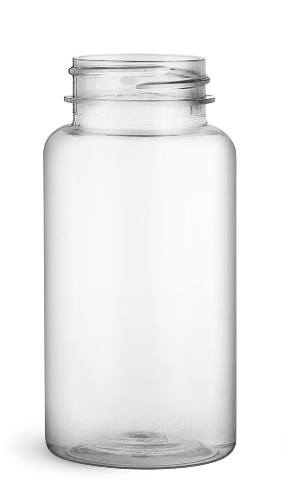150 cc Clear PET Wide Mouth Packer Bottles, (Bulk) Caps Not Included