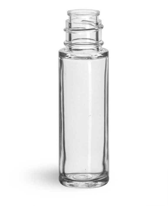 Plastic Bottles, Clear SAN Roll On Containers (Bulk) Caps NOT Included