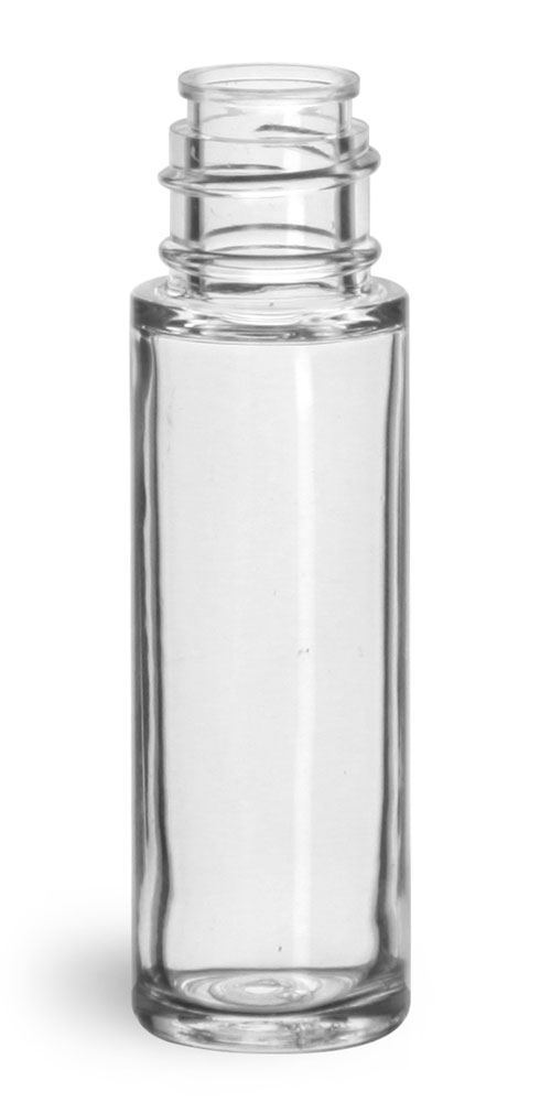 5 ml Plastic Bottles, Clear SAN Roll On Containers (Bulk) Caps NOT Included