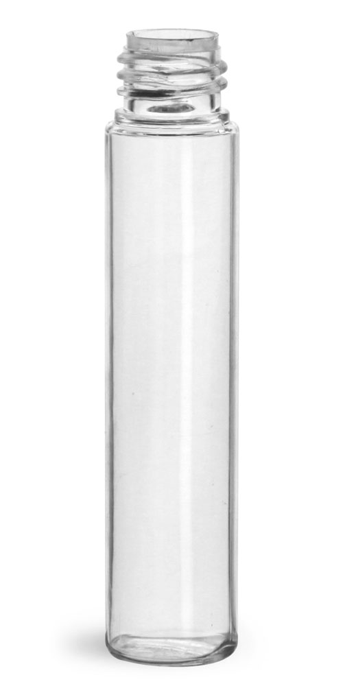 10.6 ml Plastic Bottles, Clear PET Roll On Containers (Bulk) Caps NOT Included