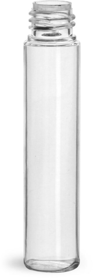 Plastic Bottles, Clear PET Roll On Containers (Bulk) Caps NOT Included