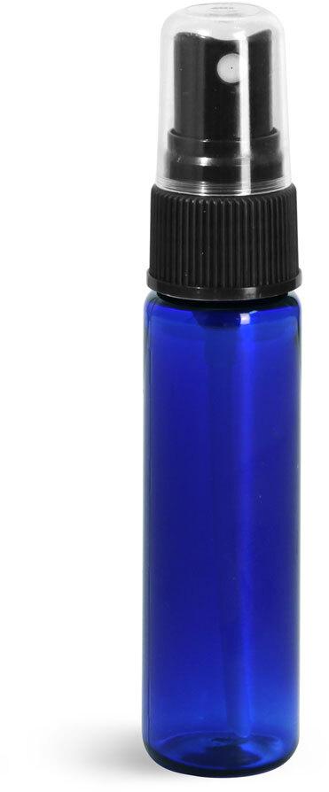 Blue PET Slim Line Cylinders w/ Black Sprayers