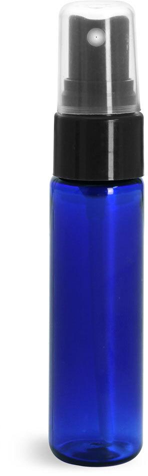 Blue PET Slim Line Cylinders w/ Sprayers or Pumps