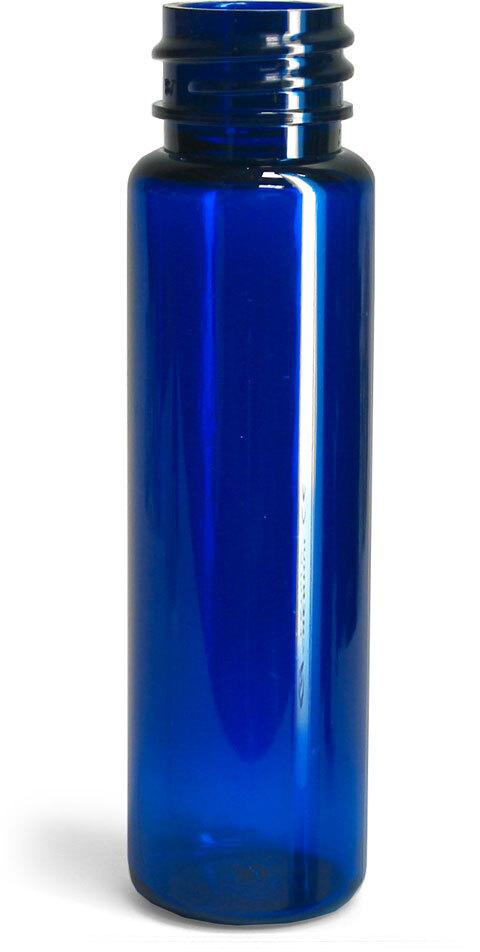 Blue PET Slim Line Cylinders (Bulk), Caps NOT Included