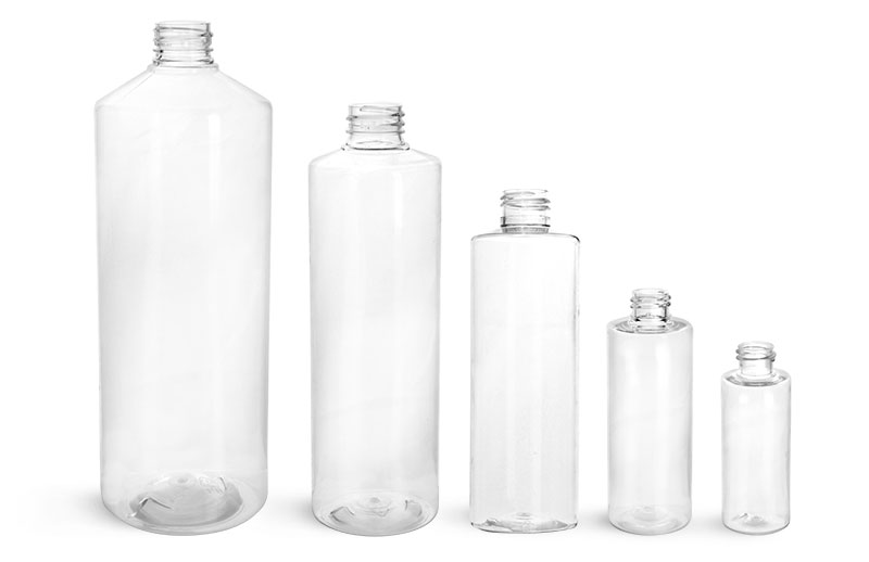 32 oz Clear PET Cylinder Rounds