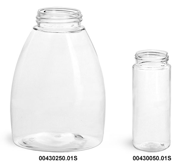 Clear PET Bottles (Bulk)