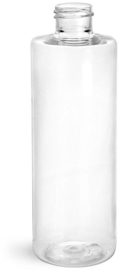 Clear PET Cylinder Bottles (Bulk) Caps Not Included