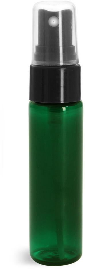 Green PET Slim Line Cylinders w/ Sprayers or Pumps