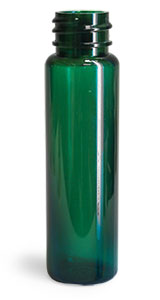 Plastic Bottles, Green PET Slim Line Cylinders (Bulk), Caps NOT Included
