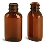 Amber 1 oz Oval Bottles
