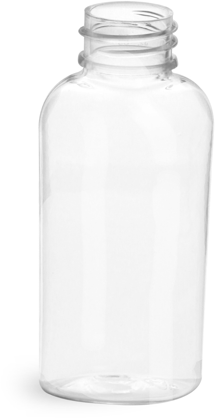 Clear PET Cosmo Ovals (Bulk), Caps NOT Included
