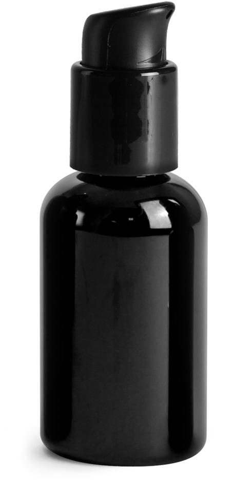Smooth Black PP Treatment Pumps w/ 3 1/2