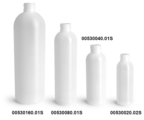 Natural HDPE Cosmo Rounds (Bulk), Caps NOT Included