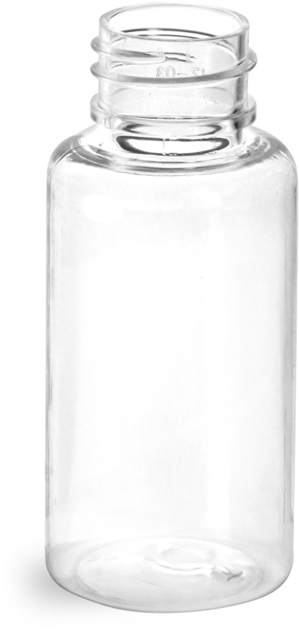 Clear PET Round Bottles (Bulk), Caps NOT Included