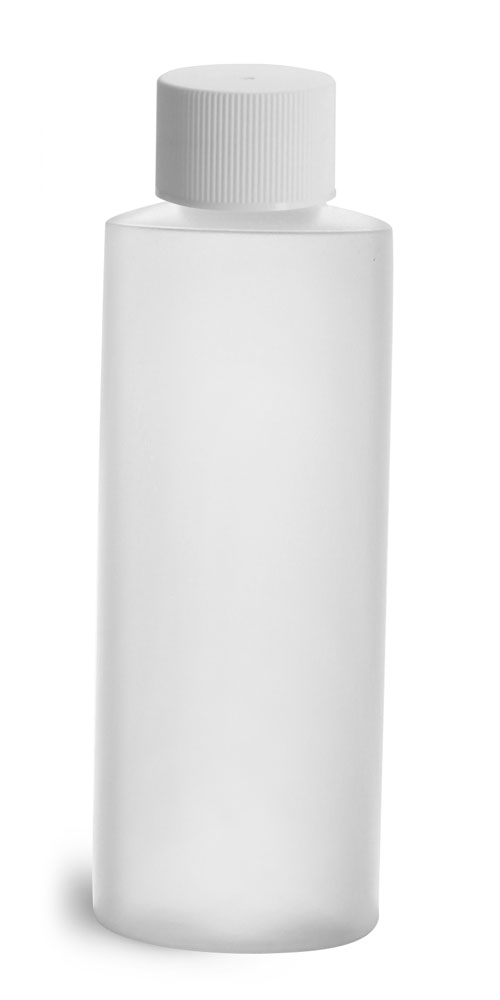 4 oz Natural HDPE Cylinder w/ White Lined Closure