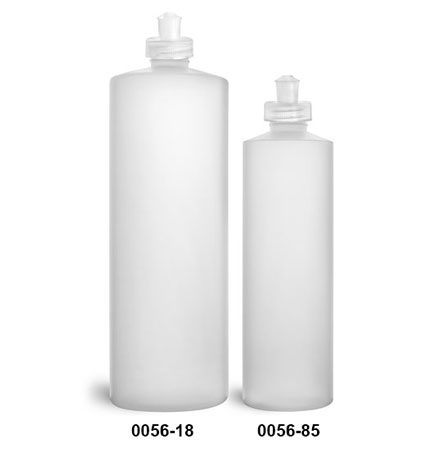 Plastic Bottles, Natural HDPE Cylinder Bottles With Natural Push/Pull Caps