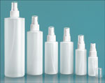 Natural HDPE Cylinders w/ White Fine Mist Sprayers