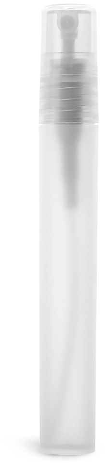 Natural Frosted Polypro Mini Cylinder with Natural Fine Mist Sprayer and Overcap (Bulk)