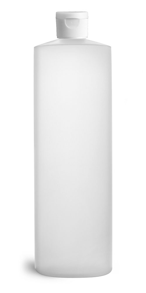 Natural HDPE Cylinders w/ White Ribbed Snap Caps