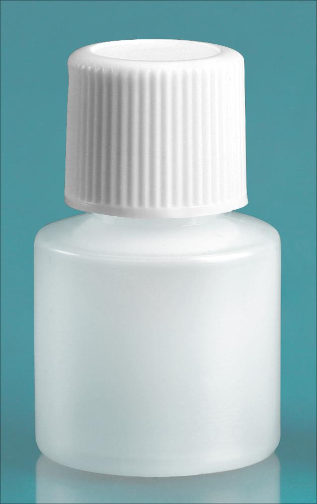 7 cc w/ White Cap Natural Cylinder w/ White Screwcap