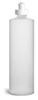 16 oz16 oz Plastic Bottles, Natural HDPE Cylinder Bottles w/ White Push/Pull Caps