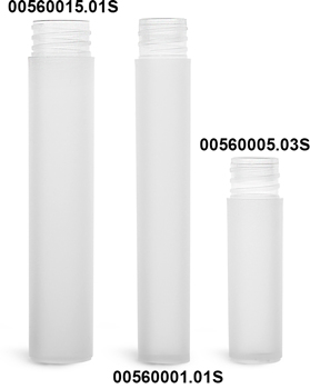 Plastic Vials, Natural Frosted Polypropylene Mini Cylinders (Bulk), Caps NOT Included
