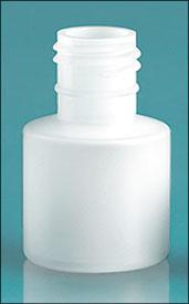 Plastic Bottles, Natural HDPE 7cc Rounds, Bulk (No Caps)
