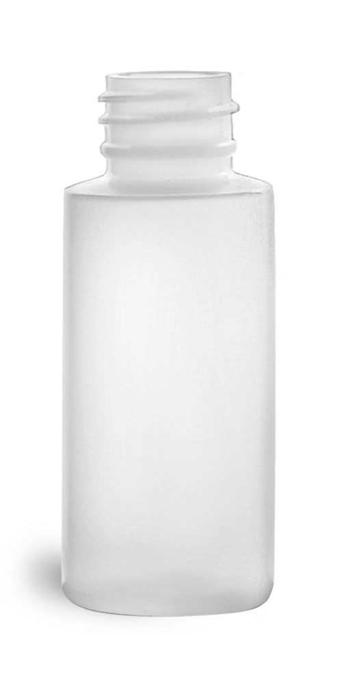 1 oz Natural HDPE Cylinders (Bulk), Caps NOT Included