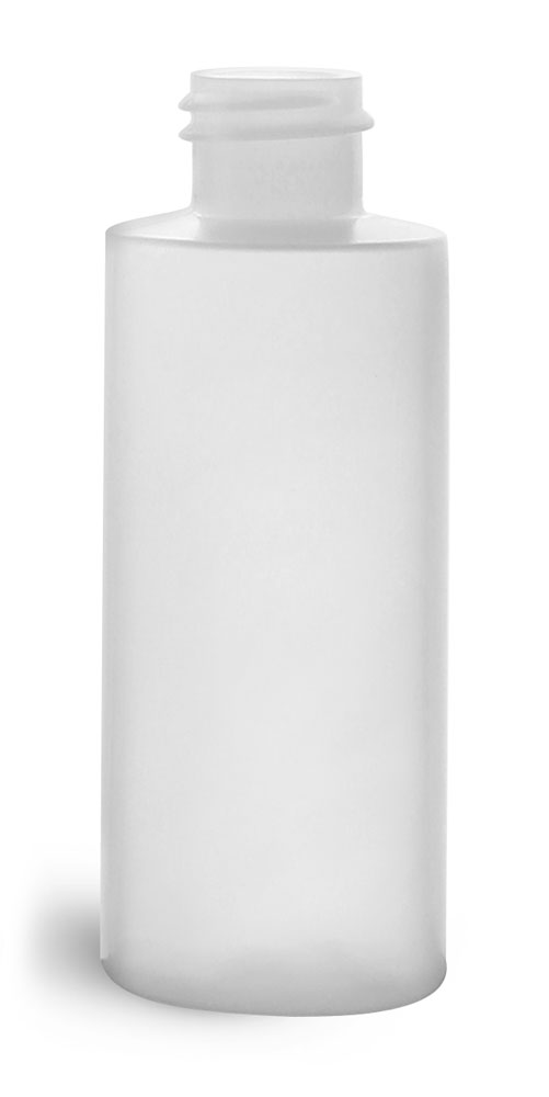 2 oz Natural HDPE Cylinders (Bulk), Caps NOT Included