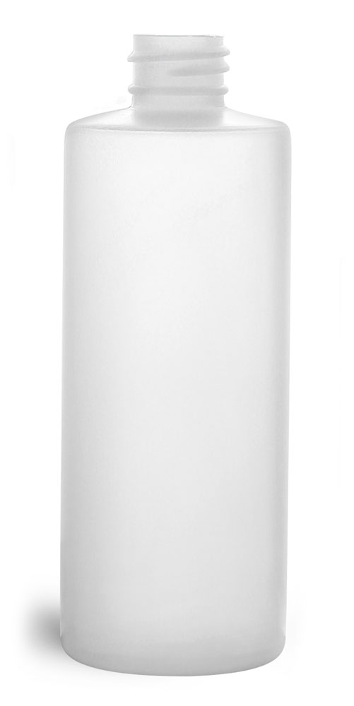 4 oz Natural HDPE Cylinders (Bulk), Caps NOT Included