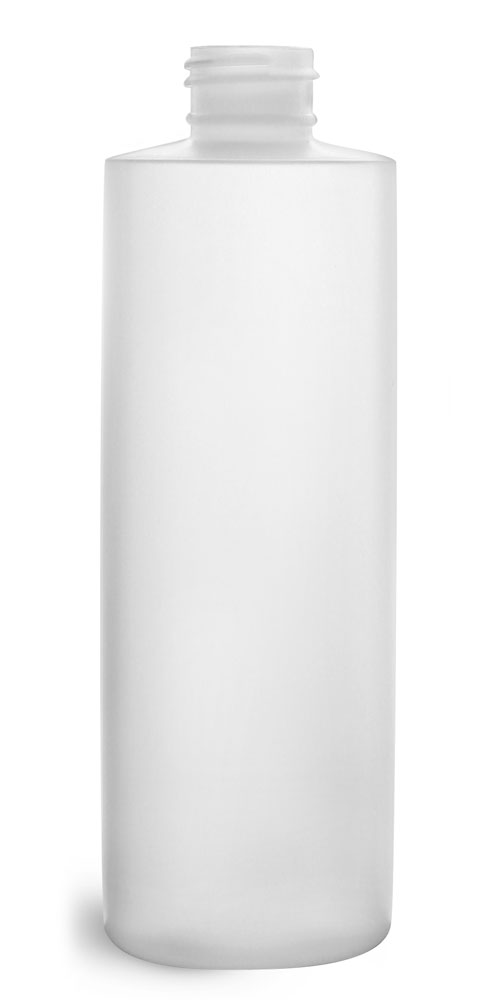 8 oz  Plastic Bottles, Natural HDPE Cylinders (Bulk), Caps NOT Included