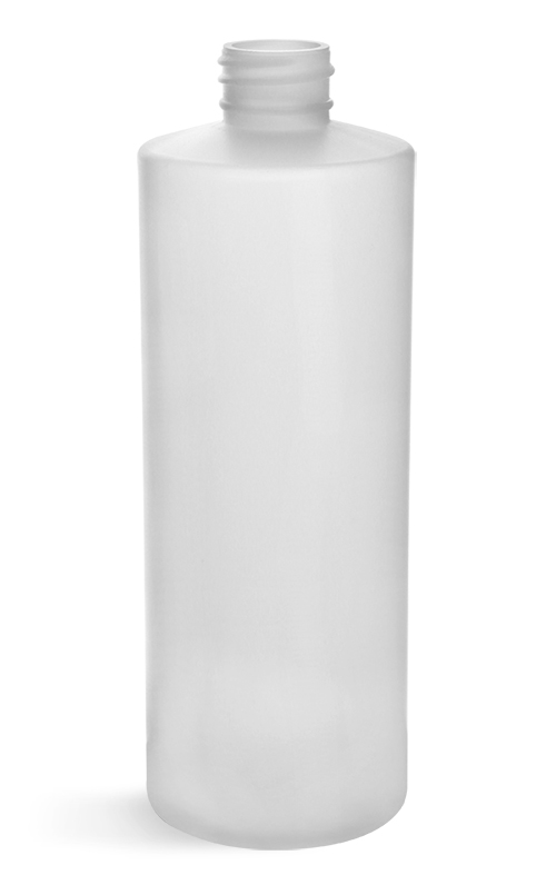 Plastic Bottles, Natural HDPE Cylinders (Bulk), Caps NOT Included