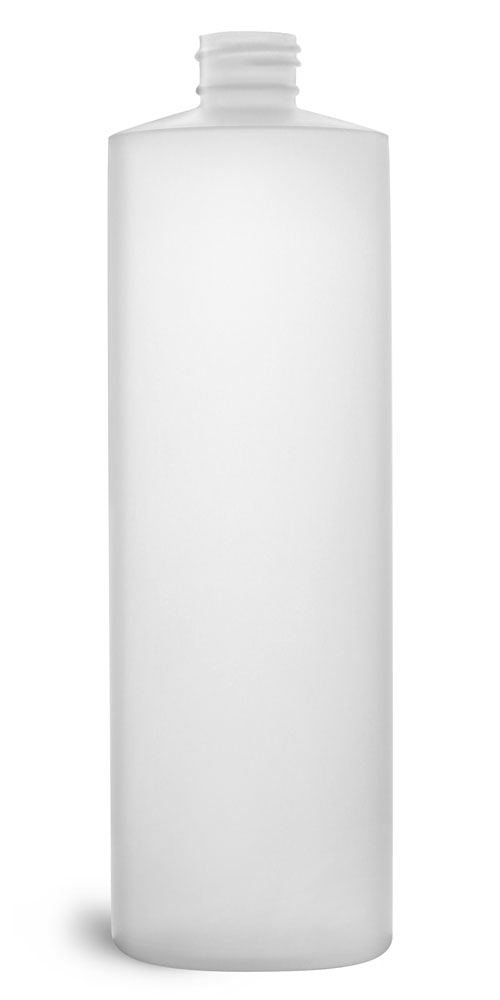 16 oz Natural HDPE Cylinders (Bulk), Caps NOT Included
