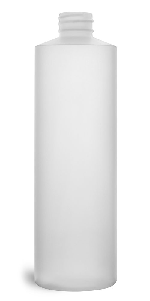 16 oz Plastic Bottles, Natural HDPE Cylinders (Bulk), Caps NOT Included