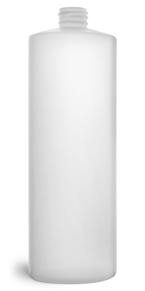 32 oz Natural HDPE Cylinders (Bulk), Caps NOT Included