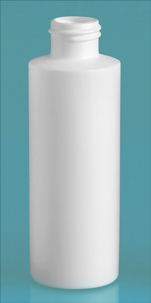 4 oz White HDPE Cylinders (Bulk), Caps NOT Included