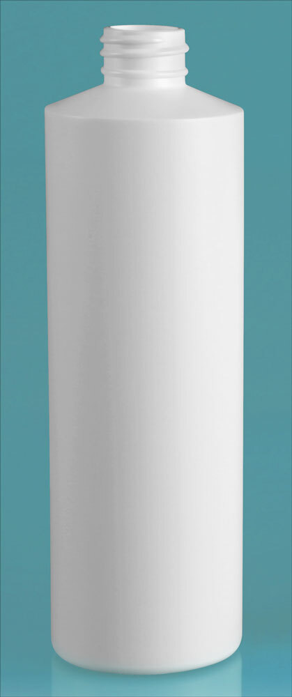 White HDPE Cylinders (Bulk) Caps NOT Included
