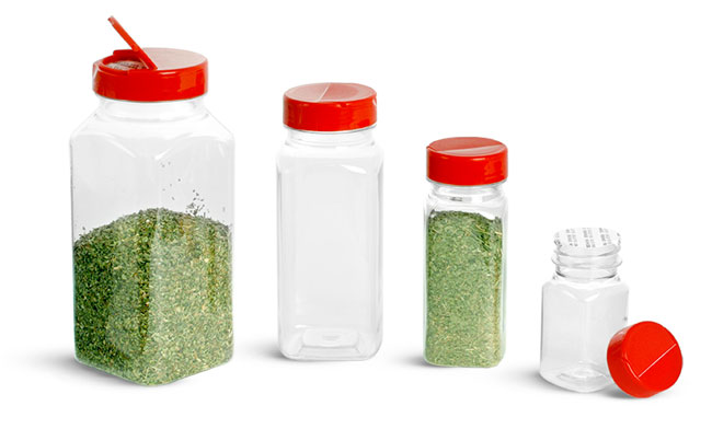 Clear PET Square Bottles To Organize Your Kitchen